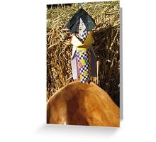 Japanese Paper Girl Greeting Card