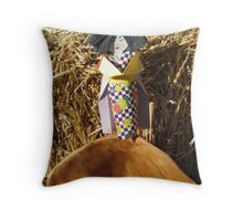 Japanese Paper Girl Throw Pillow