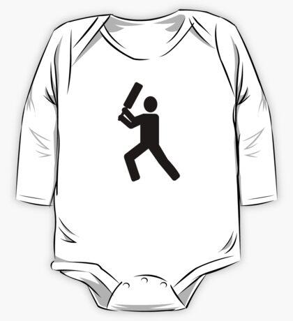 Cricket player logo One Piece - Long Sleeve