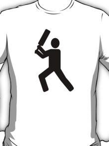 Cricket player logo T-Shirt