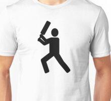Cricket player logo Unisex T-Shirt