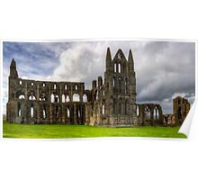 The remains of Whitby Abbey Poster