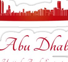 Abu Dhabi skyline in red Sticker