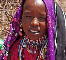 Beaded Masai Youth by phil decocco