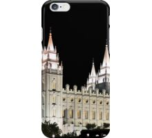 Salt Lake Temple by moonlight 20x24 iPhone Case/Skin