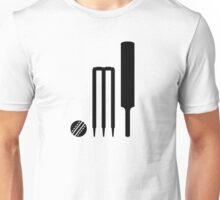 Cricket ball bat stumps Unisex T-Shirt