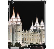 Salt Lake Temple by moonlight 20x24 iPad Case/Skin