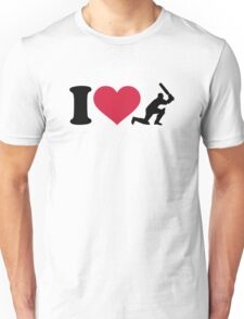 I love Cricket player Unisex T-Shirt