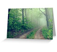 Woodland Fog Greeting Card