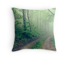 Woodland Fog Throw Pillow