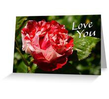Love you rose Greeting Card