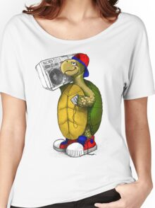Hip Hop Boombox Turtle Women's Relaxed Fit T-Shirt