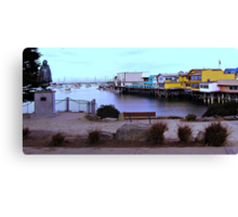 Monterey Bay Wharf and Harbor Canvas Print