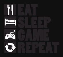 Eat, Sleep, Game, Repeat One Piece - Short Sleeve