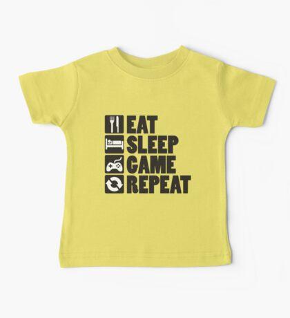Eat, Sleep, Game, Repeat Baby Tee