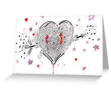 heart overflowing Greeting Card