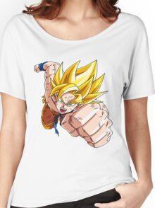 Son Goku (孫 悟空?), -Dragon Ball- Akira Toriyama-SSj1 Women's Relaxed Fit T-Shirt