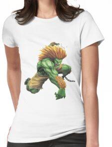 Blanka- Street Fighter- Buranka Womens Fitted T-Shirt