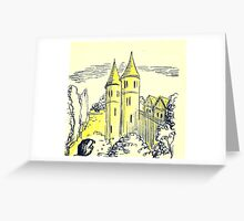 golden towers Greeting Card