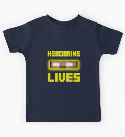 Herobrine Lives Kids Tee