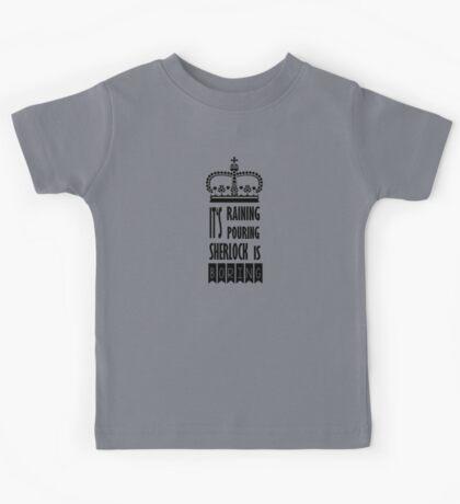 SHERLOCK IS BORING Kids Tee