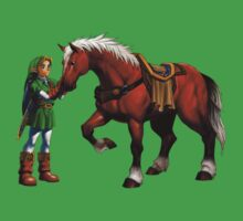 Ocarina of Time 3D Link and Epona Official Art by Jack-O-Lantern