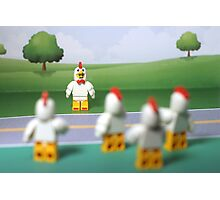 Chicken Suit Guy - Crossing the Road Photographic Print