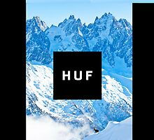 HUF Snow Mountain Logo by Kxnz