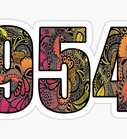 954 Doodle Sticker