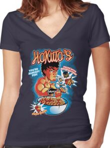 Hokuto's Women's Fitted V-Neck T-Shirt