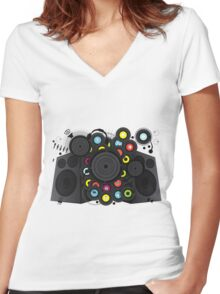 20th-Century Music Women's Fitted V-Neck T-Shirt