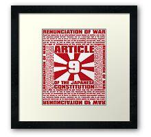Article_9 Framed Print