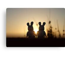 Bunny - Silhouettes at Sunset Canvas Print