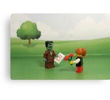 Frankenstein's Monster - Making Friends Canvas Print