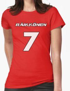 Raikkonen 7 Womens Fitted T-Shirt