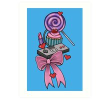 Girly Gamer Art Print