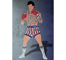 Rocky Balboa From Rocky Typography Quote Design Photographic Print