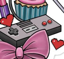 Girly Gamer Sticker