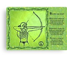 Elven Ranger Poem Canvas Print