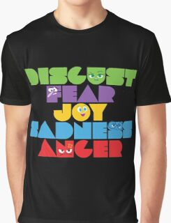 Inside Out - Stacked Emotions Graphic T-Shirt