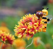Bee Girl - Buzzing around the bee-utiful garden by emmkaycee