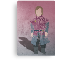 Tyrion Lannister from The Game Of Thrones Typography Quote Design Canvas Print