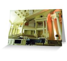 First Pentecostal Church Interior Greeting Card