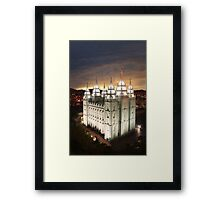 Salt Lake Temple Cloudy Sunset 20x30 Framed Print