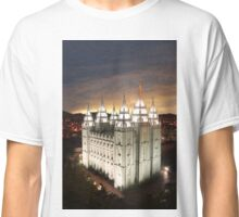 Salt Lake Temple Cloudy Sunset 20x30 Classic T-Shirt