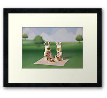 Bunny - Picnic Time Framed Print