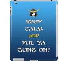 Keep Calm and Put Ya Guns On! iPad Case/Skin
