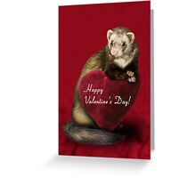 Valentine's Day Ferret Greeting Card
