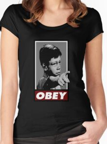 Twilight OBEY/ It's a good life! Women's Fitted Scoop T-Shirt