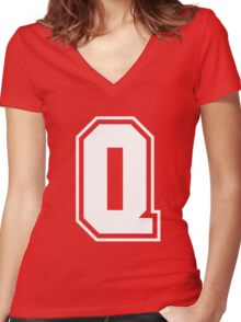 quebec Women's Fitted V-Neck T-Shirt